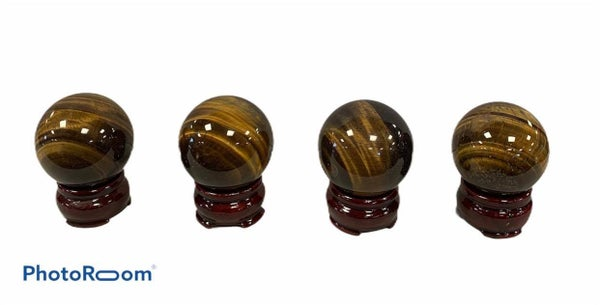 Tiger Eye Sphere - With Stand