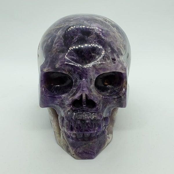Chevron Amethyst Skull