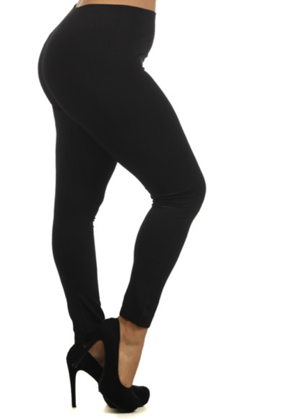 """Solid Color Seamless Legging w/ 3"""" Waistband OS"""