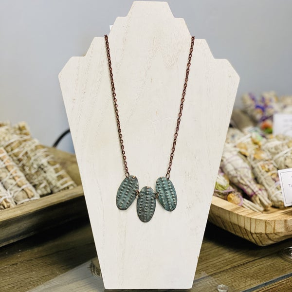 Embossed Patina Necklace 286