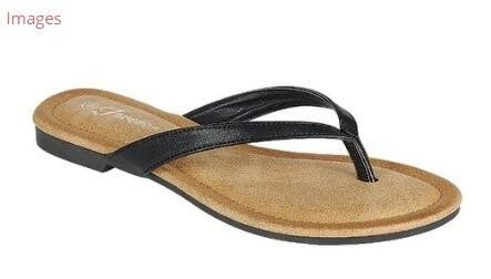 Stylish Leather Flip Flop - Black *Final Sale*