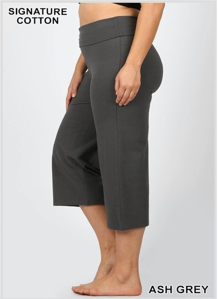 Yoga Capri Pants - ASH GREY