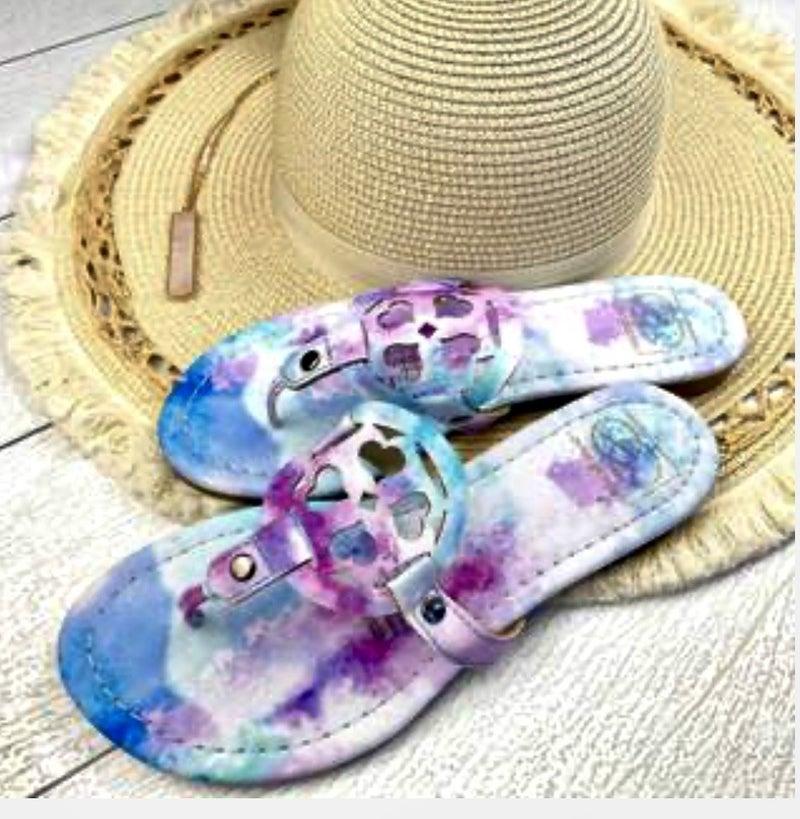 LuLu Tie Dye Sandals