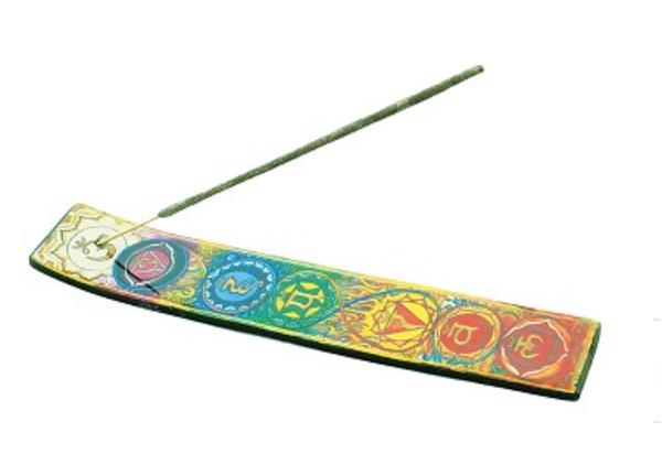 Chakra Wooden Incense Burner 11 inch