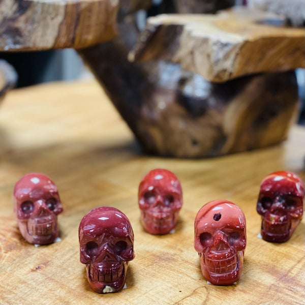 Red Jasper Skulls - Small