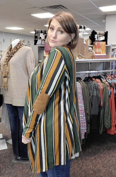 Stripe Rust /Green Cardigan
