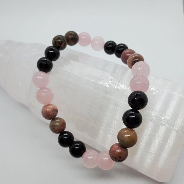 Rhodochrosite / Onyx / Rose Quartz Bracelets