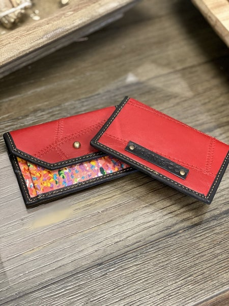 Upcycled Genuine Leather - Credit Card Holder