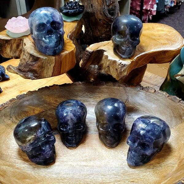 Rainbow Fluorite Skulls - 460g