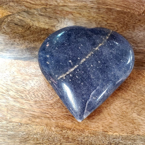 Dumortierite Hearts - Medium