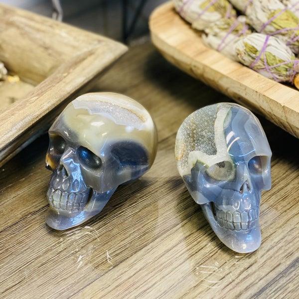 Agate Skull - Medium