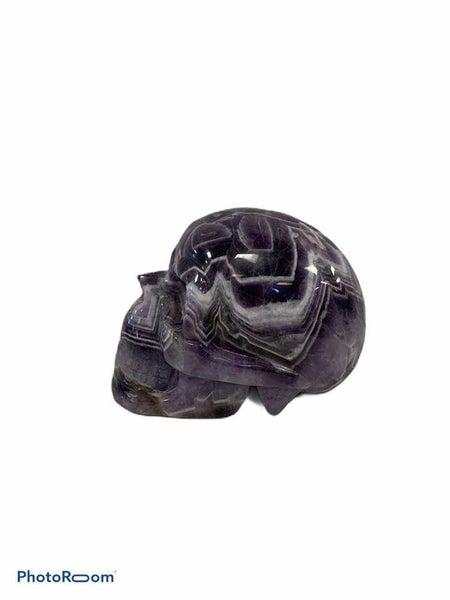 Chevron Amethyst Skull - 1.5 pds