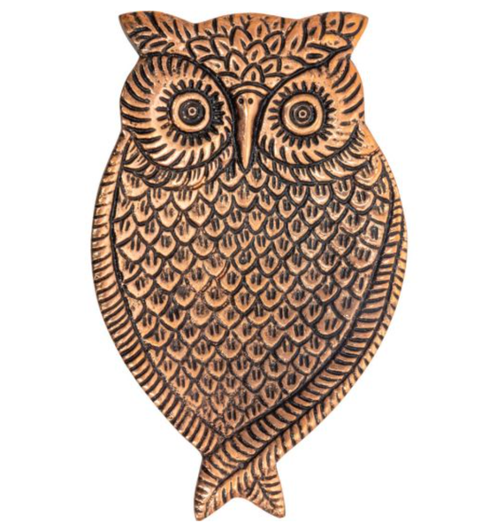 Aluminum Incense Holder Copper - Owl