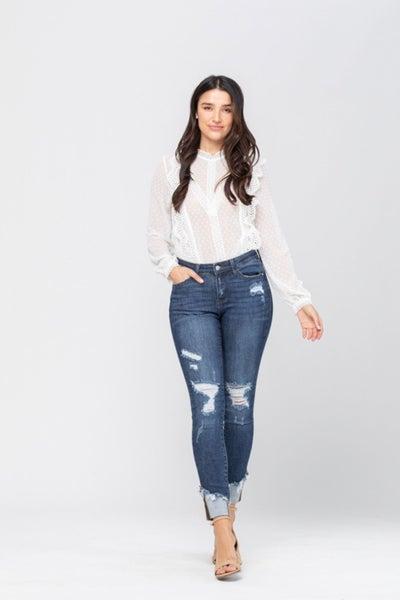 Sassy Cuff Curvy Jean