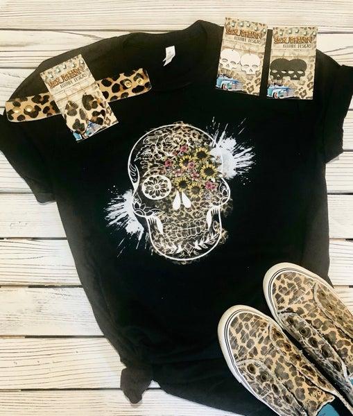 Leopard Sugar Skull T Shirt