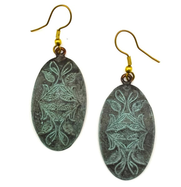 Copper Patina Earring 284