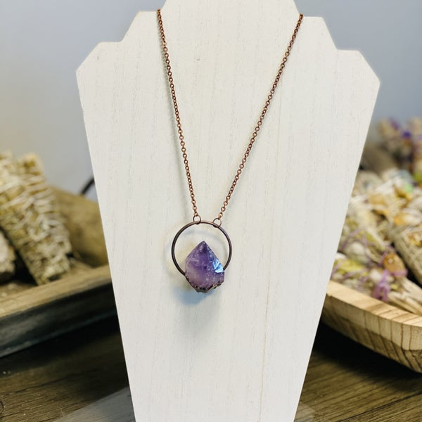 Amethyst Patina Necklace - Lg