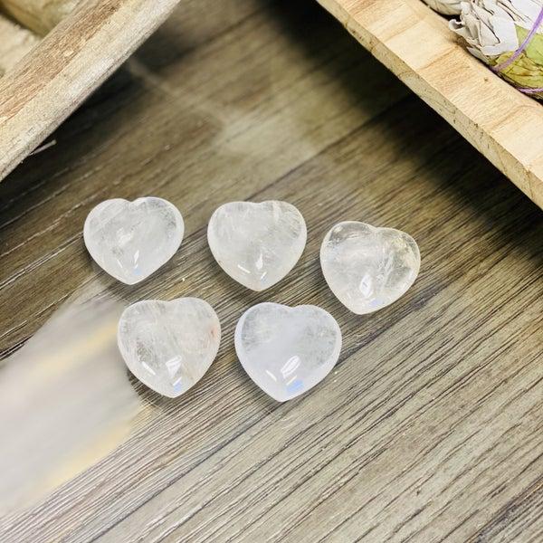 Clear Quartz Hearts - Random