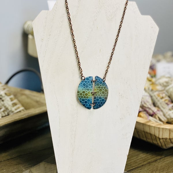 Embossed Patina Necklace 278