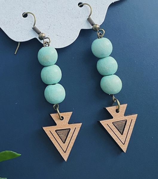 Beaded Aztec Arrow Earring