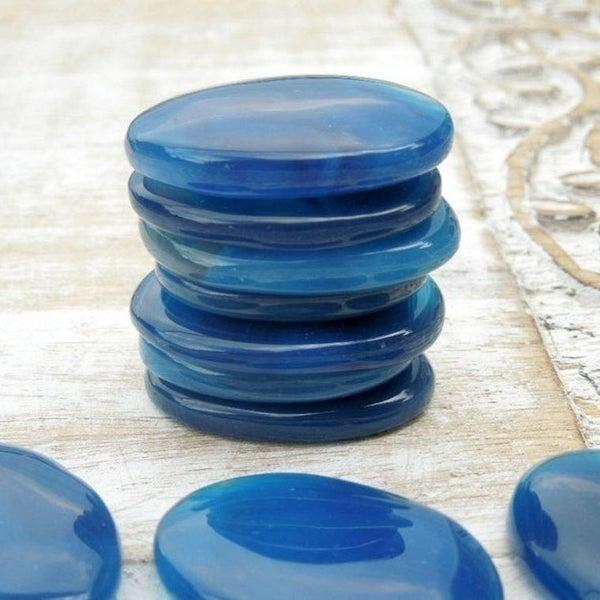 Blue Onyx Worry Stones
