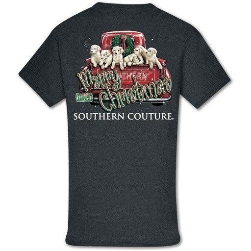 Merry Christmas Truck Pups T-Shirt