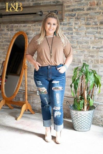 Camo Sequin Jeans