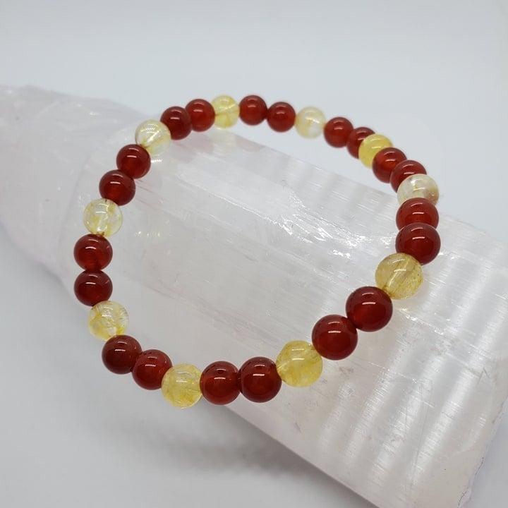 Citrine / Carnelian Bracelets