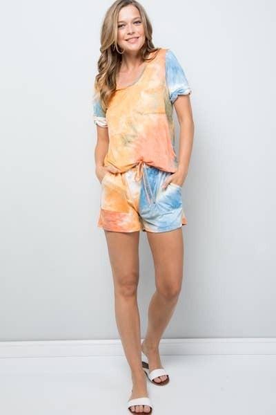 Tie Dye Short PJ Set
