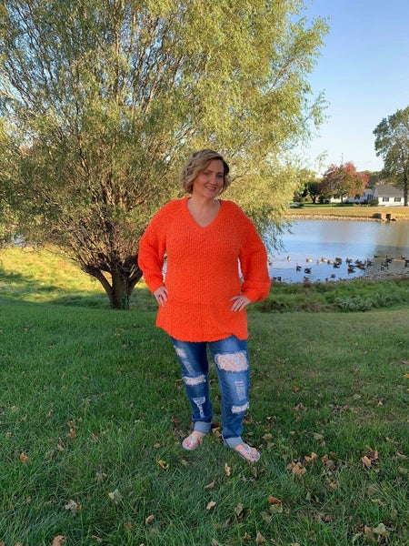 Orange Chill in The Air Sweater