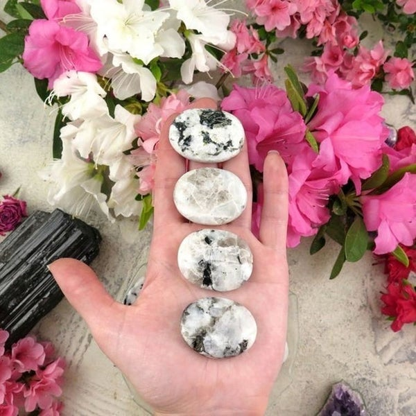 Rainbow Moonstone Worry Stones
