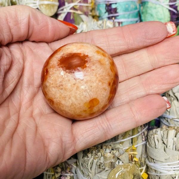 Carnelian Sphere Small