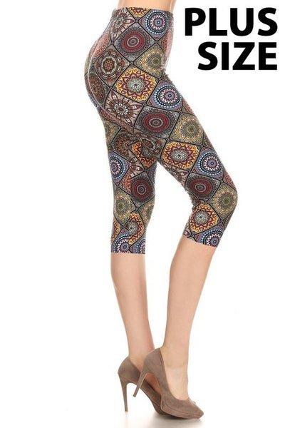 Medallion Tapestry Capri-Curvy *Final Sale*