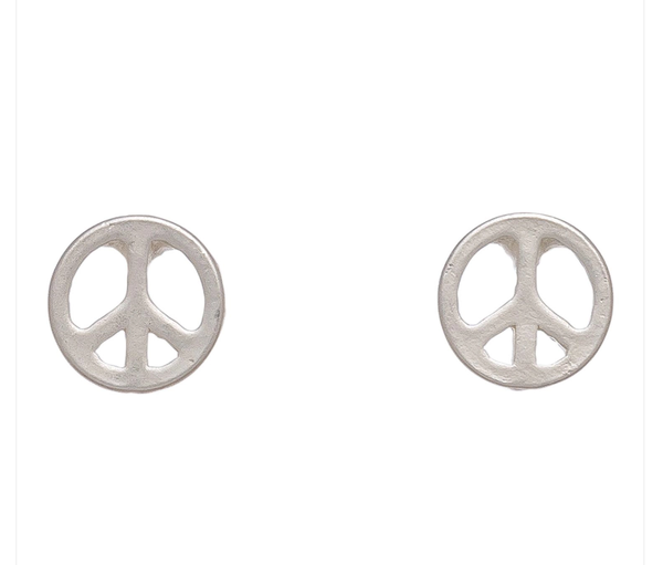 Stud Peace Earrings