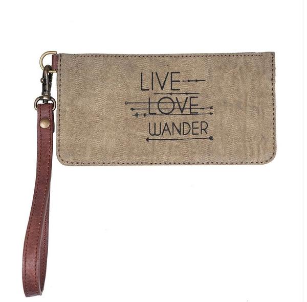 Live, Love, Wander Credit Card Wristlet
