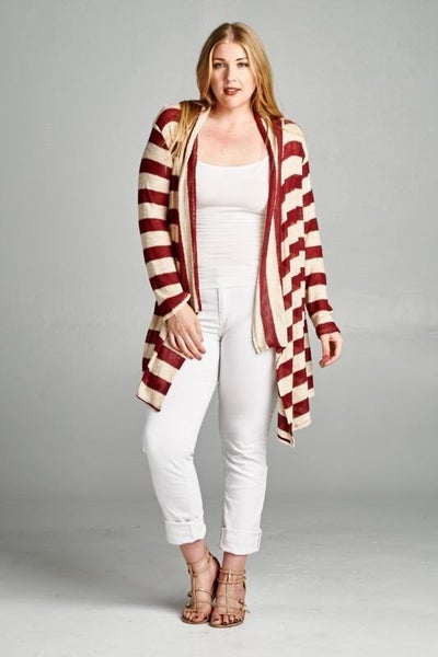 Curvy Cardigan Sweater