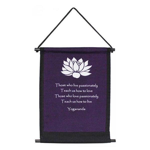 Yogananda Lotus Banner