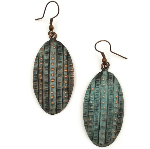 Copper Patina Earring 286