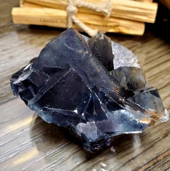 Rare Blue Fluorite Raw Large