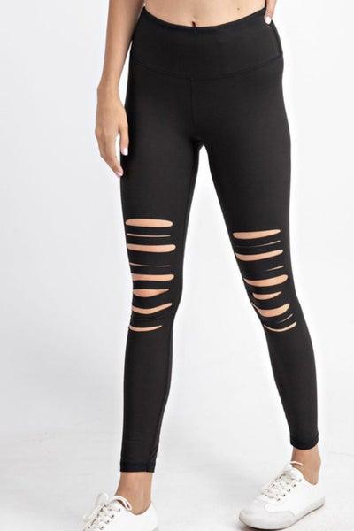 Knee Slit Leggings