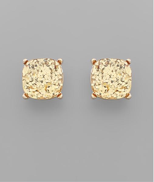 GLITTER GOLD POP EARRINGS