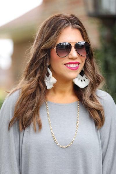 Queen Bee Aviator Sunglasses