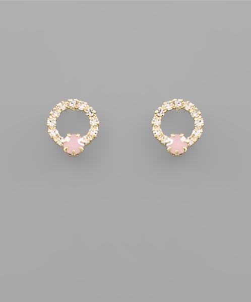 Circle Opal Studs