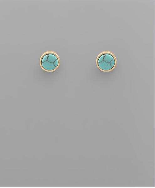 Stone Turquoise Earrings
