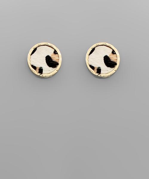 Leo and Ivory Stud Earrings