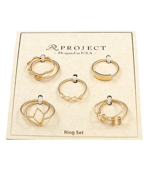Mult Gold Ring Set *Final Sale*