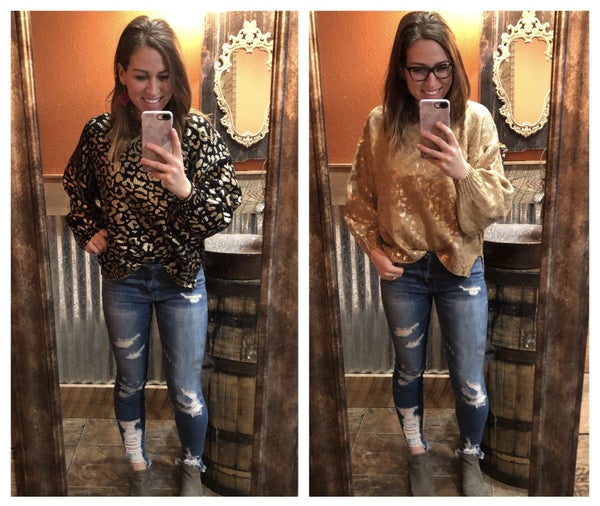 The Metallic Leopard Sweater