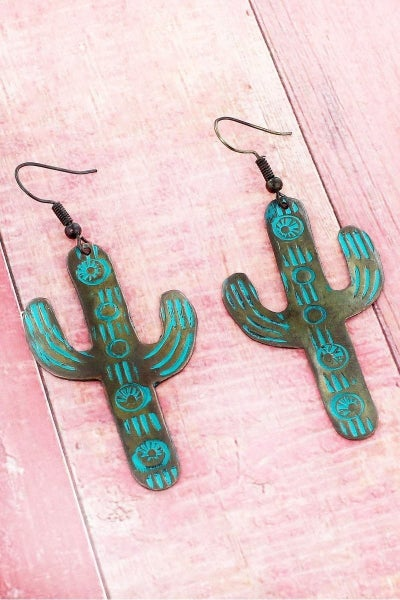 The Copper Cactus Earring