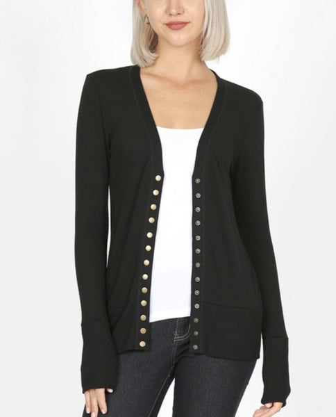 The Black Snap Cardi