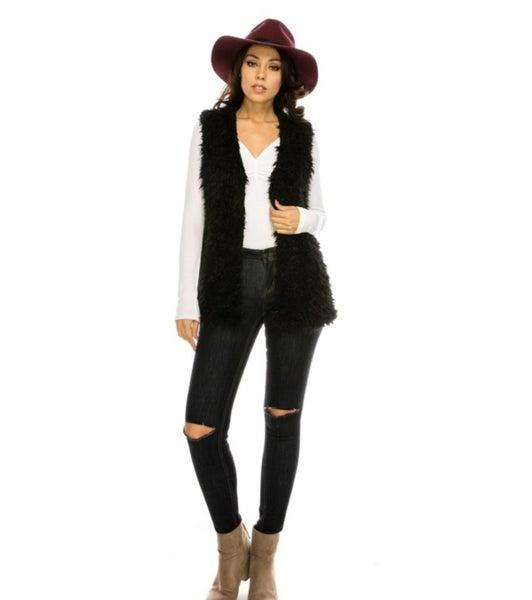 The Black Fur Vest